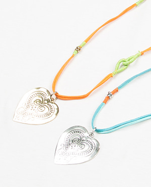 [HHS][목걸이] LONG NECKLACE LIGHT ANTIC GOLD ORANGE LIME_2color