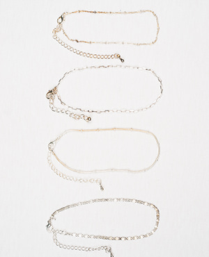 [HHS][발찌] ANKLET CHAIN SILVER_4TYPE