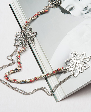 [HHS][목걸이] LONG NECKLACE ANTIC RHODIUM MULTICO